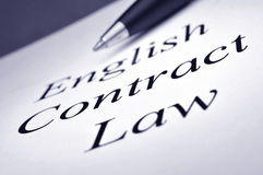English Contract Law Stock Photography