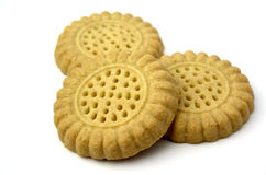 English cookies. Three english cookies on a white background Stock Images