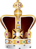 English Coronation Crown Jewels Illustration. English King and Queen Coronation Crown Jewels Illustration Isolated on White Background Stock Image