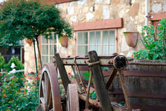English Cottage. English style cottage with cart in Australia Stock Images