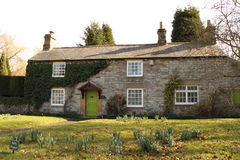 English Cottage. Stone cottage in the Debyshire Peak District stock photography