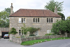 English Cottage. Old Stone Cottage in Rural England Stock Photography