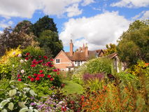 English cottage garden. Colorful flowers in a typical English cottage garden Stock Image