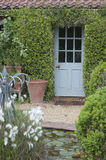 English cottage garden. Patio Royalty Free Stock Photography