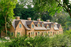 English cottage house in the woods Royalty Free Stock Images