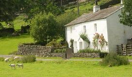 English cottage. Idyllic setting. Royalty Free Stock Photo