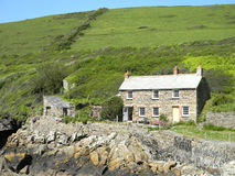 English Cottage by the Sea. This cottage is at Port Quin UK situated by the seaside Stock Image