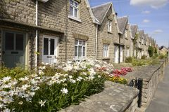English Cottage (Thirsk). Some beautiful cottages in Thirsk, Yorkshire, England Stock Image