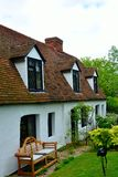 English cottage walls and roof Stock Photo