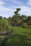 English Counry Garden with Water Royalty Free Stock Images