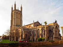 English Country Church in Wells, Somerset. Church of St Cuthbert is an Anglican Church in the parish of Wells in Somerset. Wells is the smallest City in England Stock Photos