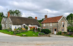 English Country Cottage and pub Stock Image