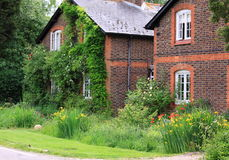 English country cottages stock image