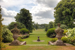 English Country Estate garden view. Stock Photo