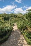 English Country Garden Path in the summer Stock Photos