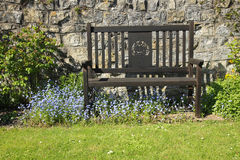 English country garden seat Stock Image