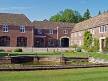 English Country House. The Courtyard of a typical English country house Stock Photo