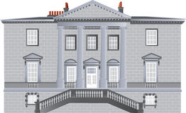 English Country House An Built In The Palladian Style With Ionic Pillars