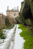 An English country house in snow Stock Photos