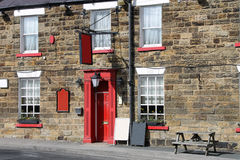 English country pub. Exterior of traditional English pub in rural countryside Royalty Free Stock Photos