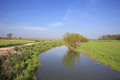 English country river and fields Royalty Free Stock Photo