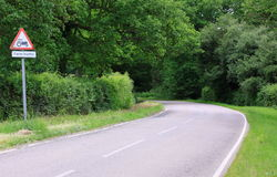 English country road stock photo