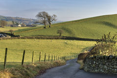 English country road Royalty Free Stock Photo