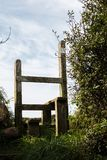 An English country stile. In cornwall Stock Image