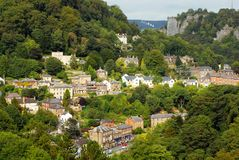 English Country Village. English rural country village and surrounding mountains Royalty Free Stock Images