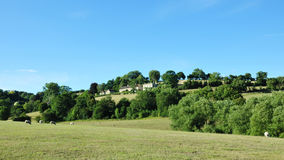 English Countryside. English Hamlet Nestled in Green Fields in the Avon Valley on the Wiltshire Somerset Border Stock Photos
