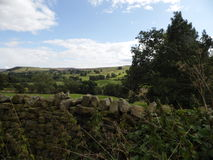 English Countryside & Ancient Brick Fence Royalty Free Stock Images