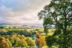 English countryside in Autumn. Near Kirkby Lonsdale, Cumbria Royalty Free Stock Image