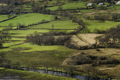 English Countryside, Borrowdale Valley, Cumbria Royalty Free Stock Image