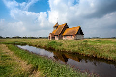 The English Countryside. An English countryside church at Romney Marsh in Kent Stock Images