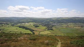 English countryside and coast view of Porlock Somerset from the walk to Bossington stock video footage