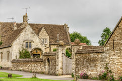 Walled garden, Castle Combe Village, Wiltshire, England Stock Photo