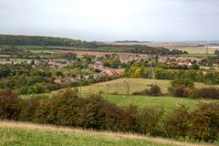 English Countryside UK. An elevate view of the English cointryside royalty free stock photos