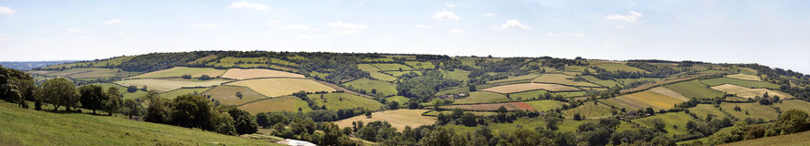 English countryside panorama Royalty Free Stock Photo