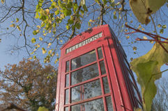 English countryside phone booth Stock Photos