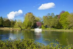 English countryside in Runnymede. River and English countryside in Runnymede, UK Stock Images