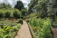English Country Garden Path in the summer Royalty Free Stock Image