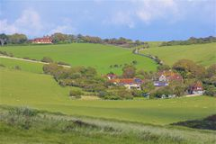English countryside, UK. Typical English countryside, East Sussex Stock Photos