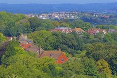 English countryside, UK. Typical English countryside, East Sussex Royalty Free Stock Images