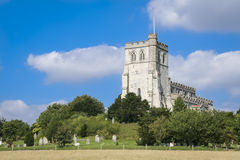 Old english countryside village church scene uk Royalty Free Stock Photography