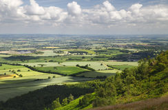 English Countryside Vista. A beautiful vista accross English countryside, taken from the summit of the Wrekin, Shropshire, England royalty free stock photography