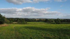 English countryside in Warwickshire, UK stock video footage