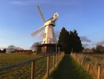 English Countryside Windmill landscape royalty free stock image