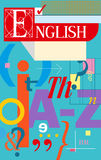 English cover. Textbook and notebook Royalty Free Stock Photo