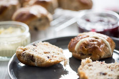 English cream tea, fresh scones Royalty Free Stock Photography