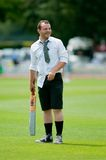 English cricket fan in fancy dress Stock Photo